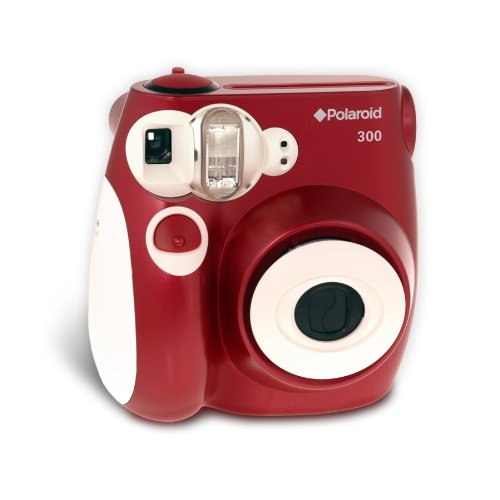 Polaroid PIC-300R Instant Analog Camera (Red)