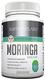Best Moringa Oleifera Extract Supplement! Natural Super Food - Boosts Weight Loss and Immune System - Reduces Stress - 800 mg Vegetarian Capsules - 100% Satisfaction Guaranteed