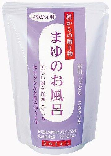 きぬもよふ まゆシリーズ まゆのお風呂詰替え 450ml 18回分