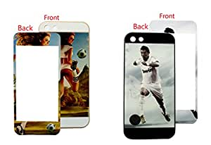Mobile Back Cover 2-in-1 Pack with Screen protector for Apple iPhone 5 ZT13793