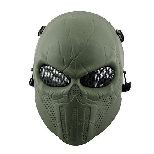Bingxay Skull Skeleton Airsoft Paintball Full Face Protect Mask paintball party mask airsoft wire mesh spectre 1 0 full face mask bd8863