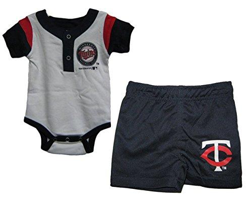 MLB Infant 2 Piece Minnesota Twins Shorts and Creeper Set цена и фото