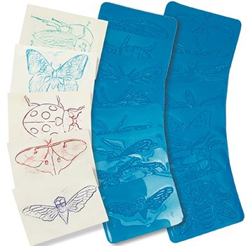 Rubbing Plates - True Insects; Set of 16; no. R-5803(Colors May Vary)