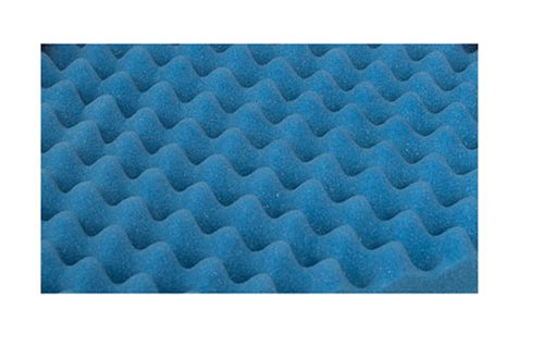 Duro-Med Convoluted Bed Pad Full-Size Bed Pad, Blue - Egg Crate Mattress Pad : Egg Crate Mattress Pad