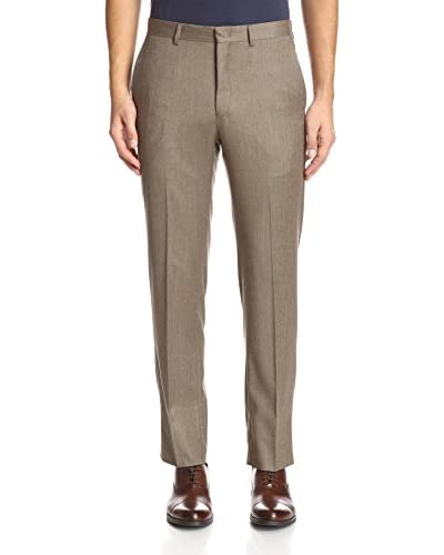Franklin Tailored Men's Solid Flannel Flat Front Tyler Trouser