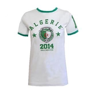 MyMixTrendz - Coupe du Monde Femmes 2014 Angleterre Brésil Espagne T-shirt Top (Small, Algérie)