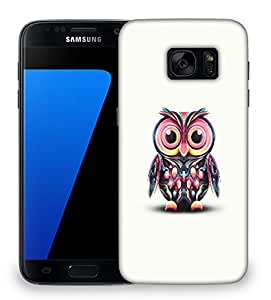 Snoogg Cute Owl Painting Wide Designer Protective Phone Back Case Cover For Samsung Galaxy S7