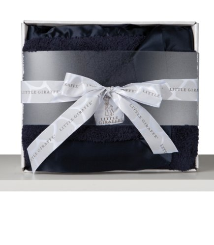 Little Giraffe Chenille Blanket In A Box (Denim) front-835901