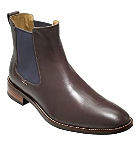 Cole Haan Men's Lenox Hill Chelsea Boot,Chestnut Water Proof,10 M US
