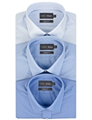 3 Pack 2in Longer Easy Care Classic Collar Shirts