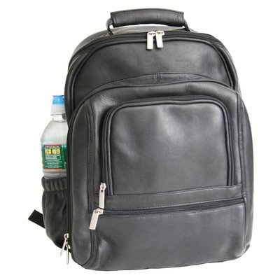 B003YO1Z4E Deluxe Laptop Backpack (Black) (17″H x 14″W x 8″D)