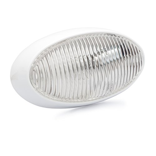 Lumitronics RV Oval Porch Utility Light - Clear Lens. Great for Campers, Trailers, 5th Wheels. Enjoy Clear Lighting At Night. (Rv Led Light Conversion compare prices)