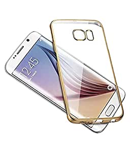 Maxlive Back Cover For SAMSUNG G7106 (Transparent & GOLDEN) With OTG CABLE