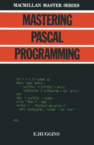 Mastering Pascal Programming (Macmillan Master)