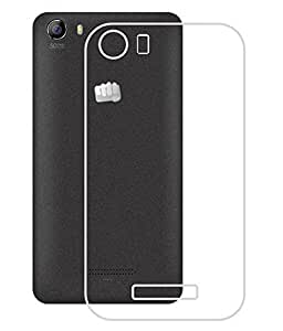 S-Line Transparent cover for Micromax Canvas Spark 2 Q334 + Micro USB Data Cable (White)