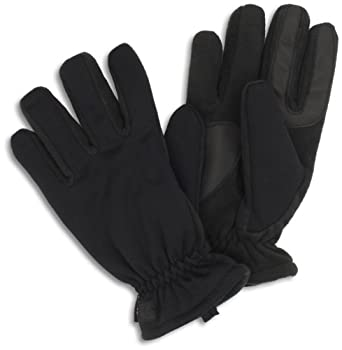Isotoner Men's Ultra Dry Mesh Gloves, Black, Medium/Large