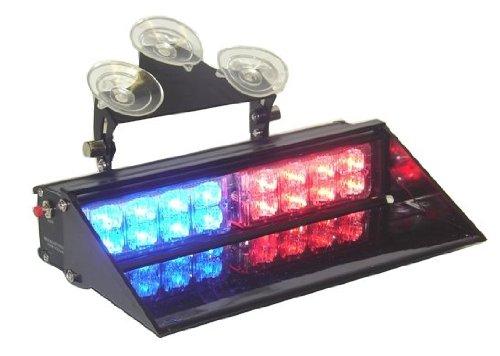A.P. Dash Mount Led Police Light Bar Red/Blue 15 Modes Super Bright Emergency