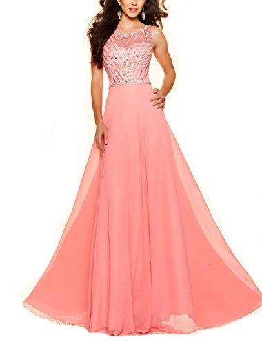 VenusDress Long Chiffon Beaded Prom Dresses Formal Bridesmaid Evening Gowns