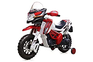 Kids' Ride On Battery Powered - 6V Motocross Bike, Red, Batterie 6V enfants alimentés au vélo de motocross, Rouge