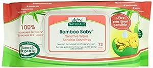 Aleva Naturals Bamboo Baby Sensitive Wipes 432-Count