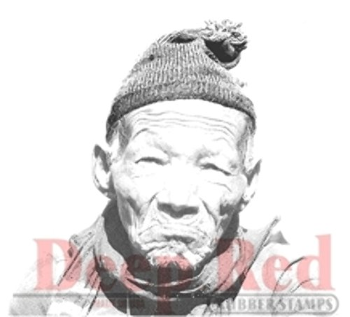 Deep Red Stamps Sherpa Portrait Rubber Stamp - 1
