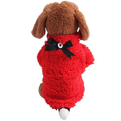 Christmas Uniquorn Winter New Pet Cotton Clothing Dog Leisure Four - Legged Clothes Bow Pet Warm Plush Three - Color Vest