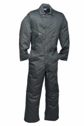 Lapco Cvfrd7Sg-Xl Rg Lightweight 100-Percent Cotton Flame Resistant Deluxe Coverall, Spruce Green, X-Large, Regular