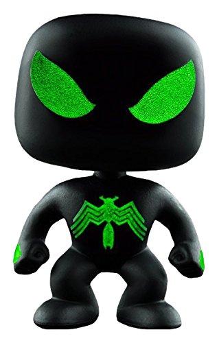 Funko - Figurine Marvel - Spider-Man Black suit Glow in the Dark Exclu Pop 10cm - 0849803070113