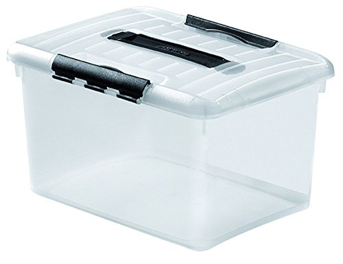Curver 183123 Optima Box 15 L Transparent + Transparent Noir
