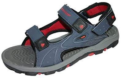 Men's Dunlop Sports Beach Trekking Walking Hiking Velcro Sandals Sizes 7 - 12 (7 UK, Navy / Red)