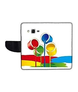 KolorEdge Printed Flip Cover For Samsung Galaxy Win 2 Multicolor - (1476-45KeMLogo11694SamWin2)
