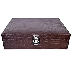 The Runner PU Leather Croc Watch Box for 12 watches