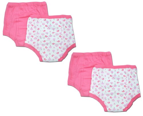 Gerber Little Girls'  4 Pack Training Pants, Pink, 3T