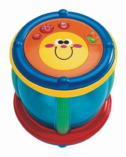 Chicco 25.5 cm Shapes N Sounds Tambourine Musical Nursery Toy