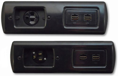 PowerBridge TS-H2-6 Total Solution Flat Panel In-Wall Cable Management Kit with Dual HDMI (Black)