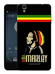 "Humor Gang Bob Marley Rasta Printed Designer Mobile Back Cover For ""Yu Yureka Plus"" (3D, Matte, Premium Quality Snap On Case)"