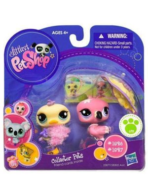Buy Low Price Hasbro Littlest Pet Shop Collector Pet Pairs Series 1 Figures Flamingo Ostrich (B004MSVH7G)