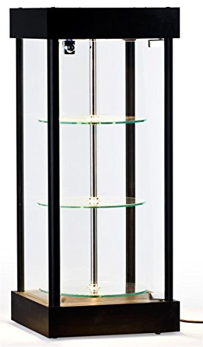 Displays2go Spinning Glass Display Case with Halogen Top Lights (Spinning Countertop Display compare prices)