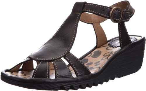 Fly London Women's Oily Black T Straps P500384006 5 UK
