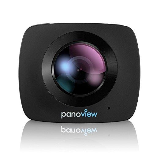 ELE-CAM-360-Grad-Kamera-Videokamera-Panoramakamera-Ball-Cam-kugelkamera-berwachungskamera-220Fisheye-Wilde-Winkelobjektiv-1080P-Full-HD-30FPS-8MP-Wifi-fr-virtuelle-Brille-mit-32-GB-SD-Karte