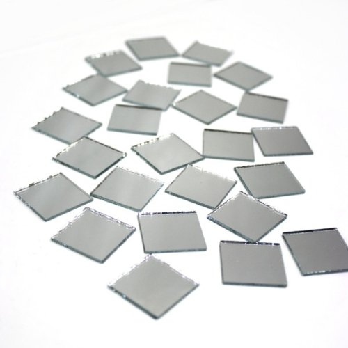 "Darice Mirrors Big Value Square 1"" 25pc"