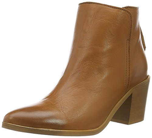 PIECESPSDOLLY LEATHER BOOT COGNAC - Stivaletti classici non imbottiti, corti Donna , Marrone (Cognac), 41 EU