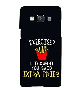 iFasho Quotes on exercise Back Case Cover for Samsung Galaxy A5