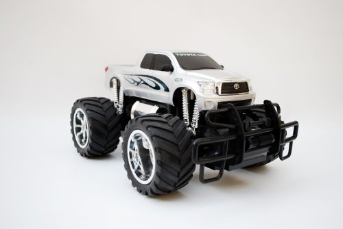 1:14 Licensed Toyota Tundra Electric Radio Remote Control RC Monster Truck (Silver)