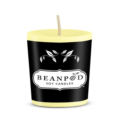Beanpod Candles Lemon Citrus, Votive,  (Pack of 18)