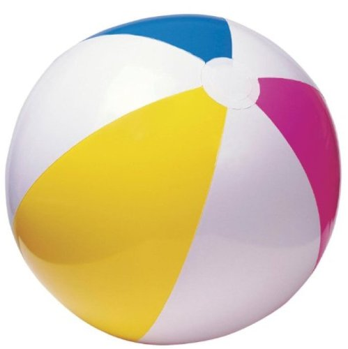 Intex Glossy Panel Ball 20 Inflatable Beach Ball #59020Bl - Pack Of 2 front-1059118