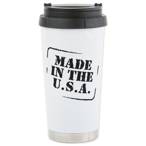 Cafepress Made In The Usa Bw Ceramic Travel Mug - Standard Multi-Color