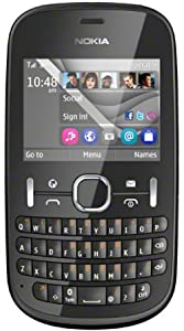 Nokia Asha 201 Mobile Phone on O2 / QWERTY/ Pay as you go / Pre-Pay / PAYG - Graphite (Including £10 Airtime)