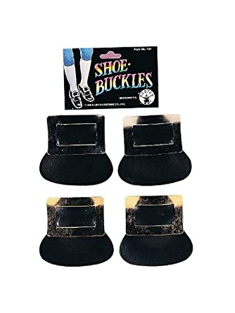 Rubies Costume Company Unisex Adult Colonial Shoe Buckles (Gold)