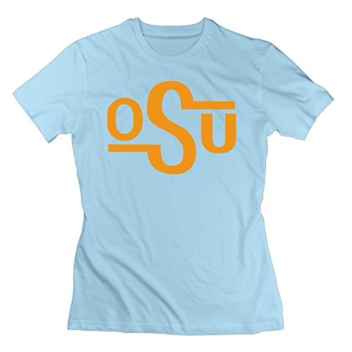 Women's T Shirts Make Your Own Oklahoma State University OSU XL SkyBlue (Kitchenaid Blender Ice Blue compare prices)